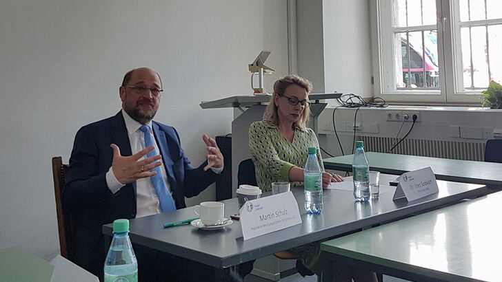Martin Schulz visits the Historical Institute